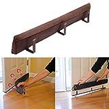 36'' Magnetic Clip On Door Draft Stopper, Energy Saving Door Seal, Brown