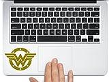 Wonder woman superhero Logo symbol car truck laptop macbook decal sticker (gold, 3.5