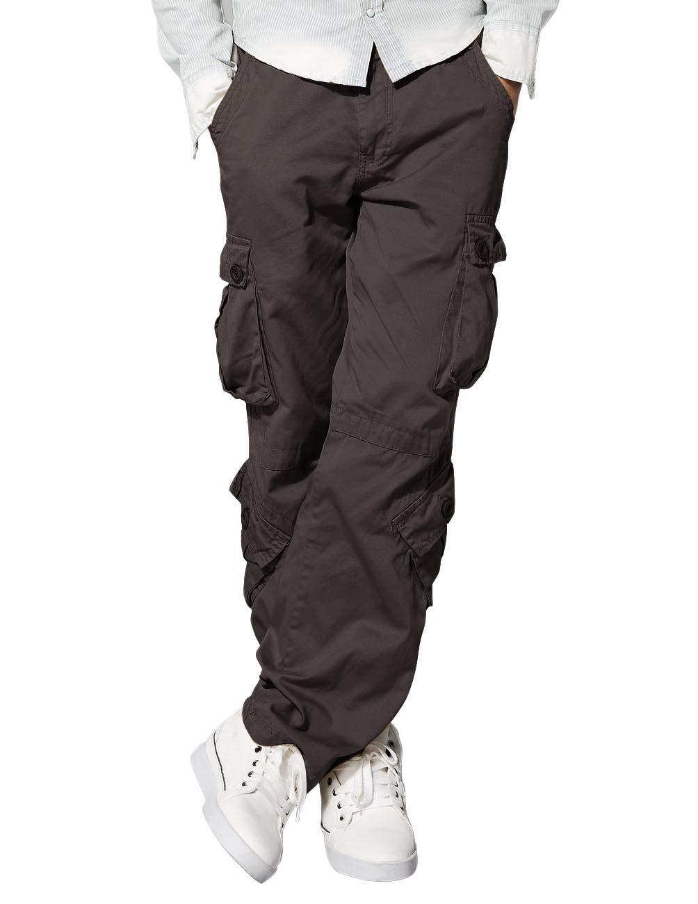 Match Men's Wild Cargo Pants(Dark khaki,38)