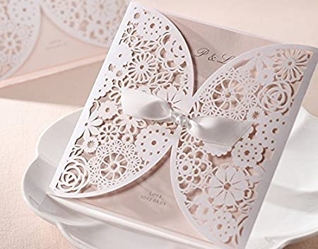 Diy laser cut vintage lace flower wedding invitation template invite diy laser cut vintage lace flower wedding invitation template invite card cover with white bows junglespirit Images