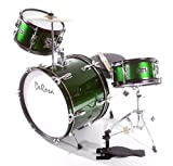 "NEW DeRosa DRM316 3 Piece 16"" Kid's Junior Drum Set- Green"