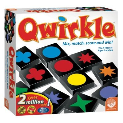 Qwirkle Board Game build lines by matching tiles