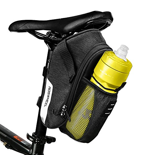 BLACK BIKE WATERPROOF SADDLE BAG SEAT POST REAR POUCH  MTB BICYCLE