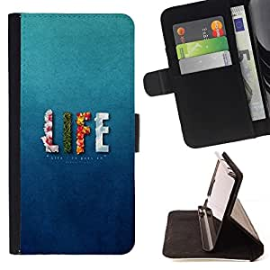 For Samsung Galaxy S3 Mini I8190Samsung Galaxy S3 Mini I8190 LIFE - UPS AND DOWNS Beautiful Print Wallet Leather Case Cover With Credit Card Slots And Stand Function
