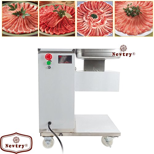 Newtry 500KG/H QE Commecial Automatic meat slicer, Meat Cutter,meat Grinder,meat processing machine with pulley (220V)
