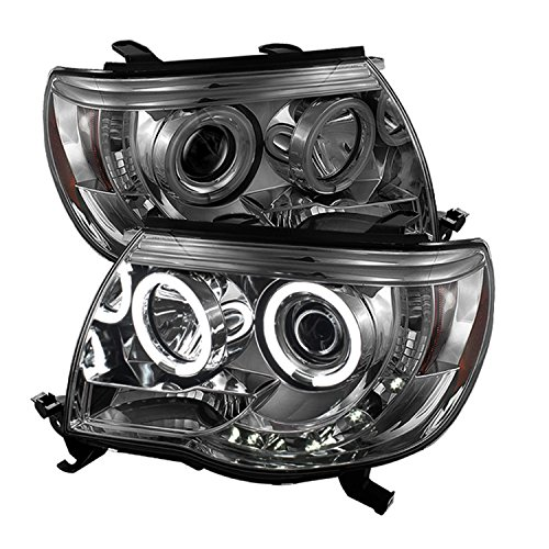 Spyder Auto PRO-YD-TT05-CCFL-SM Toyota Tacoma Smoke CCFL LED Projector Headlight with Replaceable LEDs