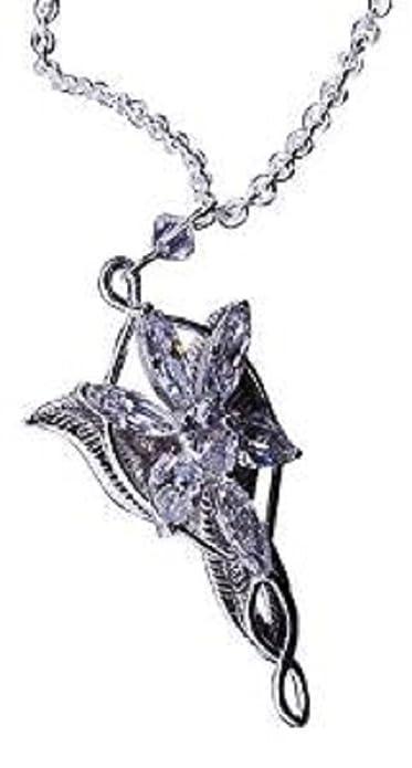 fa07147bef Il Signore degli Anelli Arwen Stella Arwen, in argento, con pendente in  cristallo: Amazon.it: Gioielli