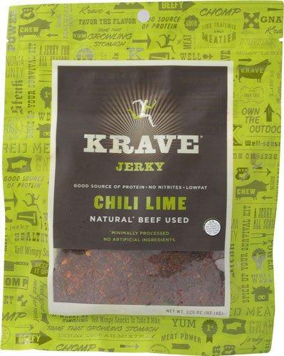 Krave Beef Jerky Chili Lime -- 3.25 oz