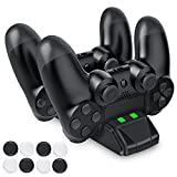 DinoFire PlayStation 4 Charging Station, PS4 Controller Charger USB Charging Dock, Dual Shock 4 PS4 Controller Charger For Sony PS4 / PS4 Pro / PS4 Slim Controller