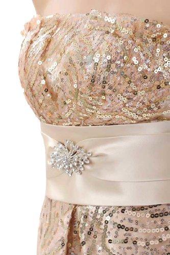 Brown Emily Strapless Women's Dresses Long Rhinestone Beauty Formal Evening gqa8wnxB