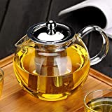 Glass Teapot with Removable Infuser, OBOR Stovetop Safe Kettle, Blooming and Loose Leaf Tea Maker Set, 650ml/22oz