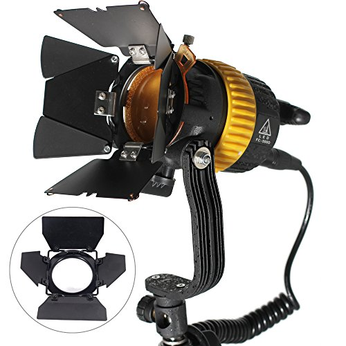 ASHANKS Portable High CIR Bi-color 50W LED Spotlight 3200K-5600K for Camera Video Continuous Light by ASHANKS