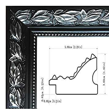 Amazon.com - Black/silver picture frame for canvas/poster, 20x20 ...