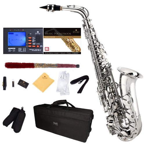 Saxofón alto Mendini color nickel (xmp)