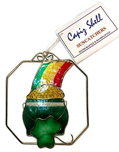 Capiz Suncatcher - Home For ALL The Holidays Pot of Gold Capiz Shell Suncatcher