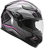 Vega Helmets AT2 Street Motorcycle Helmet for Men & Women – DOT Certified Full Face Motorbike Helmet for Cruisers Sports Street Bike Scooter Touring Moped Moto  (Pink Flash Graphic, Small)