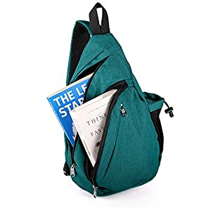 OutdoorMaster Sling Bag - Small Crossbody Backpack for Men & Women (Green)
