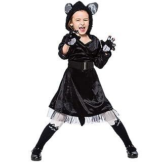 Halloween Black Cat Gonna Performance Abbigliamento Genitore-Bambino Cute Black Cat Animal Role Playing,Black,M