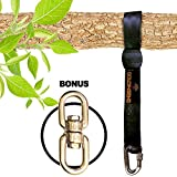 10 feet Tree Swing Straps Hanging Kit for Outdoor Swing with Free Swivel Hook - New Extra Long10 Ft Strap Holds 2800 Lbs, Fast & Easy Way to Hang Any Swing Set