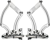BILLET SPECIALTIES POLISHED 1955-1956 HOOD HINGES WITH NECESSARY GAS SPRINGS