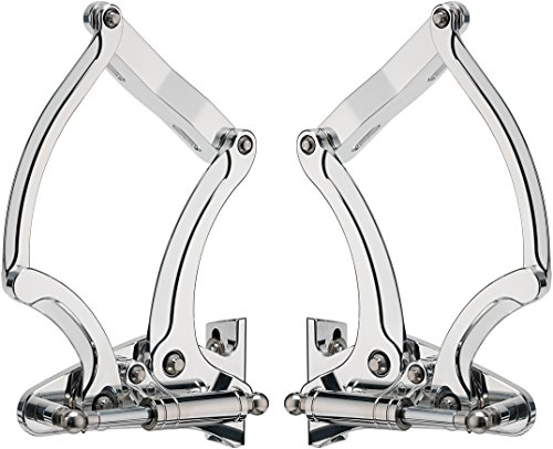 (BILLET SPECIALTIES POLISHED 1955-1956 HOOD HINGES WITH NECESSARY GAS SPRINGS)