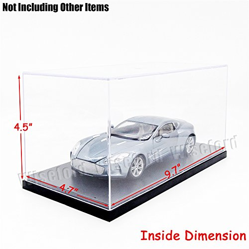 Tingacraft AcrylicDisplayCase/Box(9.8 x 4.7 x 4.5 inch)StepsPerspexDustproofShowCase for 3.75 inch Action Figure 1:24 Diecast Car Model (Figurine Display Case Amiibo compare prices)