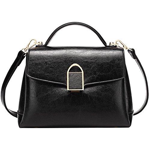 KYOKIM FLHT Mesdames Sac à Main En Cuir Mode Messenger Bag Sac à Bandoulière Business Décontracté Sauvage Paquet Paquet Black