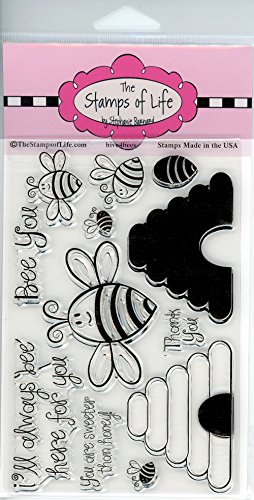 Super Cute Honey-Bee Scrapbooking Stamps for Card Making by The Stamps of Life - Hive4Bees