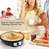 Nonstick 12-Inch Electric Crepe Maker - Aluminum