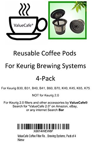 4-Permanent-Coffee-Filters-for-Keurig-B30-B31-B40-B41-B60-B70-K40-K45-K65-K75-Replaces-Keurig-My-K-cuptm-Solofilltm-Ekobrewtm-and-all-other-reusable-coffee-filters-for-Keurig-Home-Single-Cup-Brewing-S