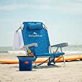 Tommy Bahama 2020 Backpack Cooler Beach Chair (Blue) with Storage Pouch and Towel Bar Plus De Reve Cooler Bag