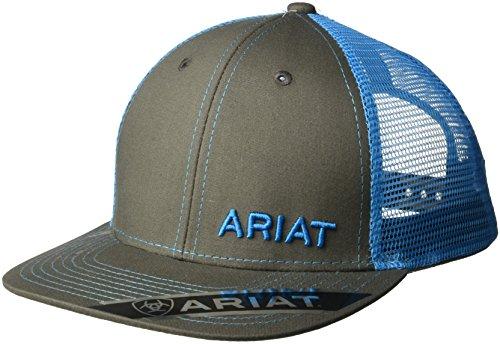 Ariat Hat (Ariat Men's Mesh Snap Back Hat, Blue, One Size)