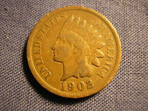 1902 U S  Indian Head Cent   Penny Circulated Good And Better