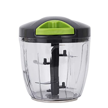QETU Tire La Secuencia Manual Food Processor, Cocina Hogar Multi-Function Chopper, para