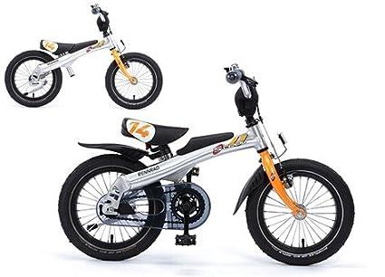 Bicicleta Sin Pedales Smart-Trail 14 Naranja Aprendizaje + Kit Pedales