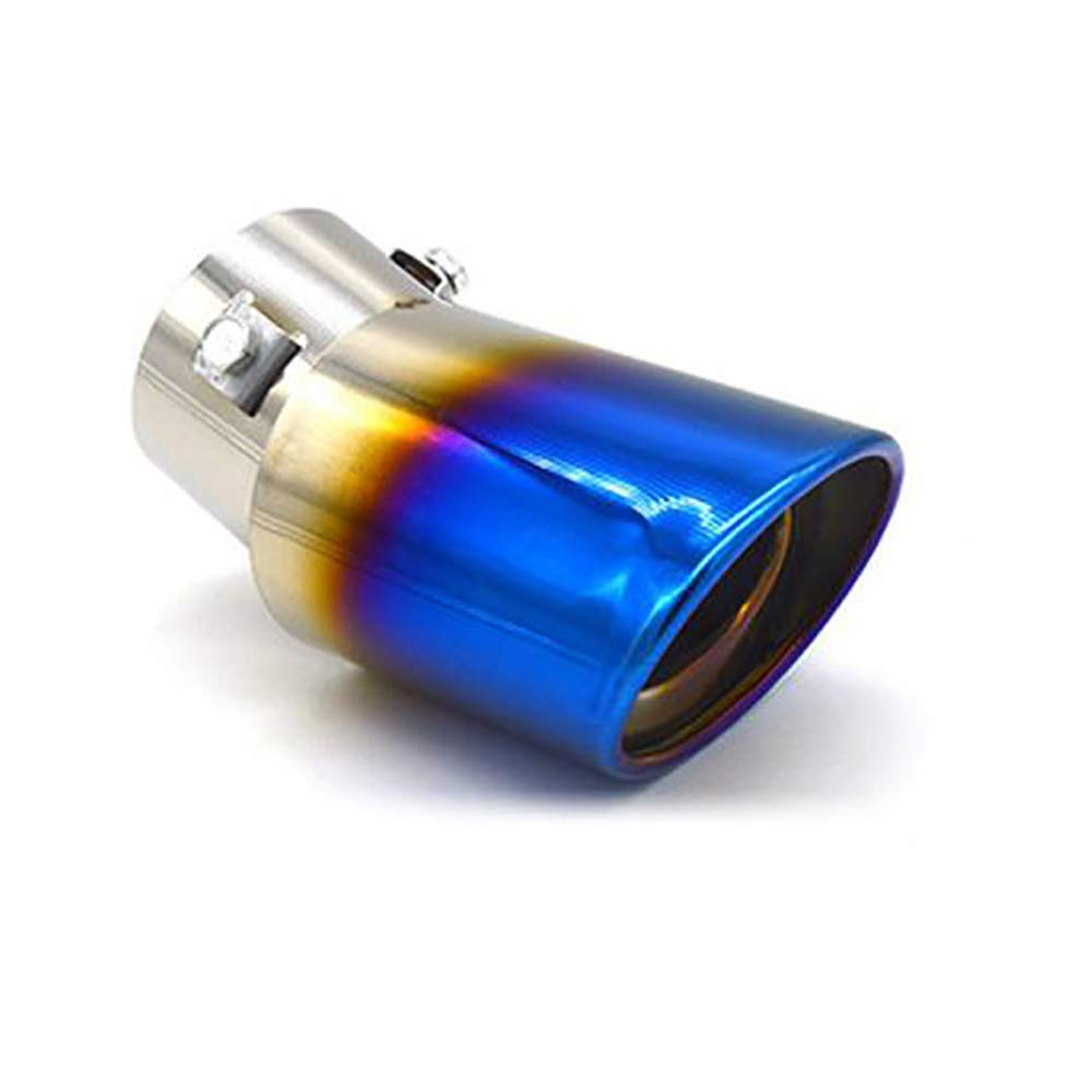 Durable and Rustproof Straight Universal Car Rear Round Exhaust Pipe Tail Muffler Tip Stainless Steel Colorful Car End Pipe Silencer with Pressurization Effect and Prevent Exhaust Pipe Deformation