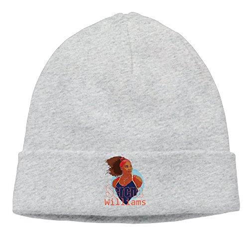 ElishaJ Unisex Serena Tennis Williams Beanie Cap Hat Ski Hat Cap Snowboard Hat Ash