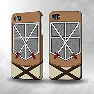 Apple iPhone 4 / 4S Case - The Best 3D Full Wrap iPhone Case - Attack on Titan Trainees Squad c
