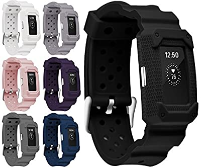 Moretek Classic Fitness Silicone Wristband Smart Watch Replacement Bands for Fitbit Charge 2 Tracker