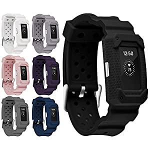 Moretek Charge2 Bands Case Anti Impact Resilient Protection Strap Rugged Band Armor Protectors Ultimate Protection from Drops and Impacts for Fitbit Charge 2 Fitness