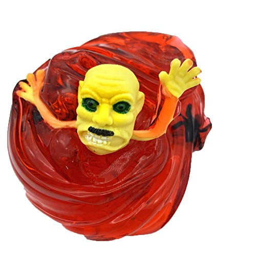Unionm Slime Toys, DIY Supplies Halloween Ghost Head Bubble Glue Putty Sludge Clay Toy Mud Soft and Non-Sticky Scented Gifts for Kids Boys Girls Stress Anxiety Relief (Wine (Meaning Of Halloween Quotes)