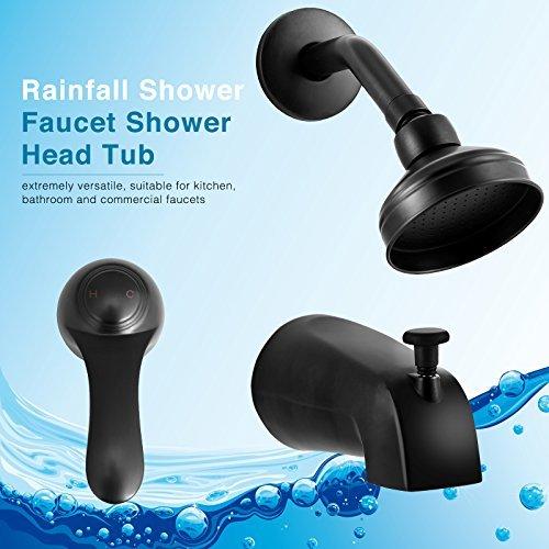 Mecor Mixer Shower Combo Set Rainfall Shower Faucet Handheld Shower and Shower Head Tub Spout and Diverter Valve,Bronze