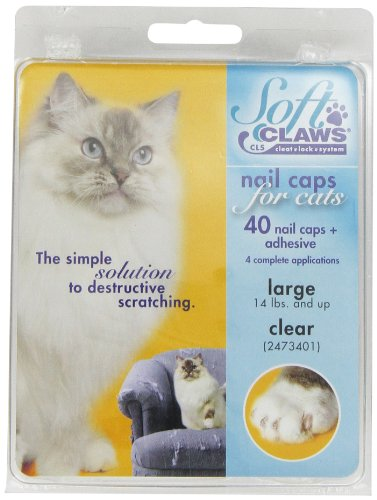 (Soft Claws Cat Nail Caps Take-Home Kit, Large, Clear)
