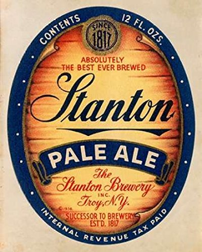 Stanton Pale Ale Beer Poster Print by Vintage Booze Labels (24 x 30)