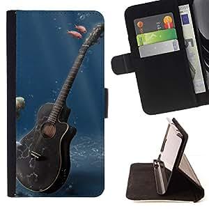 Momo Phone Case / Flip Funda de Cuero Case Cover - Música Guitarra - LG G4 Stylus H540