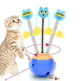FOONEE Interactive Cat Toys 3 In 1 Multi Function Automatic Spinning Electric Rotating Ball Tumbler Healthy Out Pets Gift Toys IQ Treat Balls