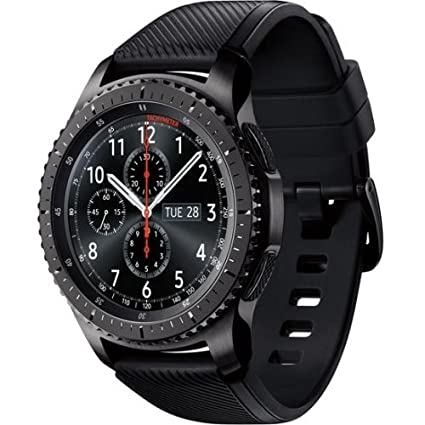 Samsung - Gear S3 Frontier Smartwatch 46mm - AT&T 4G LTE Dark Grey SM-R765A (Renewed) (Small)