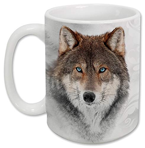 (Sweet Gisele   Wolf Mug   Ceramic Coffee Cup   Rich and Vibrant Colors   Perfect Holiday Gift   Dishwasher & Microwave Safe   Great Novelty Item Animal Mugs   15 Fl. Oz)