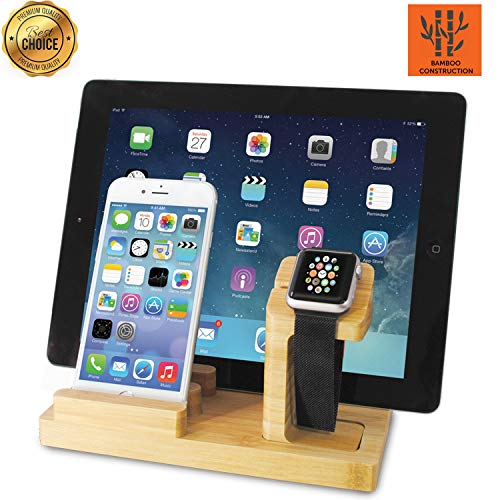 Charging Station, Phone Charging Stations, Docking Station, USB Charging Station, Charging Dock, Multiple USB Charger, Tablet Charging Station, USB Charger Multi Port with Four USB Ports and USB (Best Charging Dock For Iwatch Ipads)
