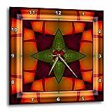 mimulux Psychedellic Art - MANDALA zen InnerBalance harmony red gold green orange peace energy glowing chakra meditation - 15x15 Wall Clock (dpp_26769_3)